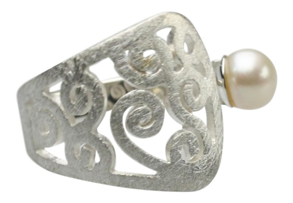 filigraner 925er silberring mit perle design ringe design. Black Bedroom Furniture Sets. Home Design Ideas