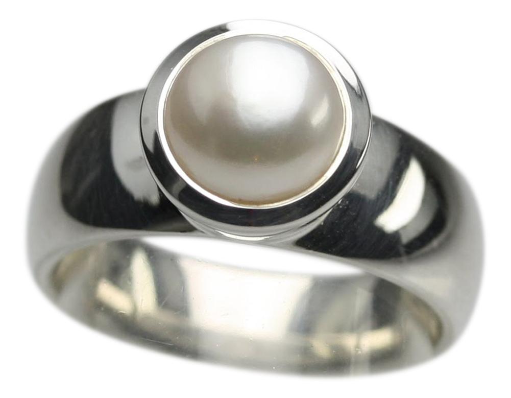 polierter 925er silberring mit perle design ringe design. Black Bedroom Furniture Sets. Home Design Ideas